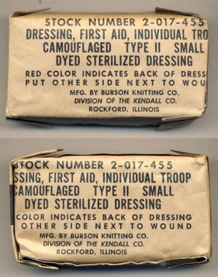 First Aid Dressing Type II World War II afr kl.jpg
