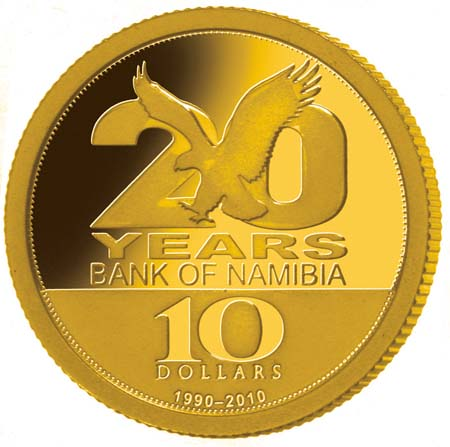 20 years Bank of Namibia gold.jpg