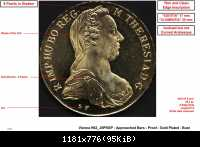 SF - Vienna - H62 J5PRGP - Approached Bars - Proof - Gold Plated - Bust LR